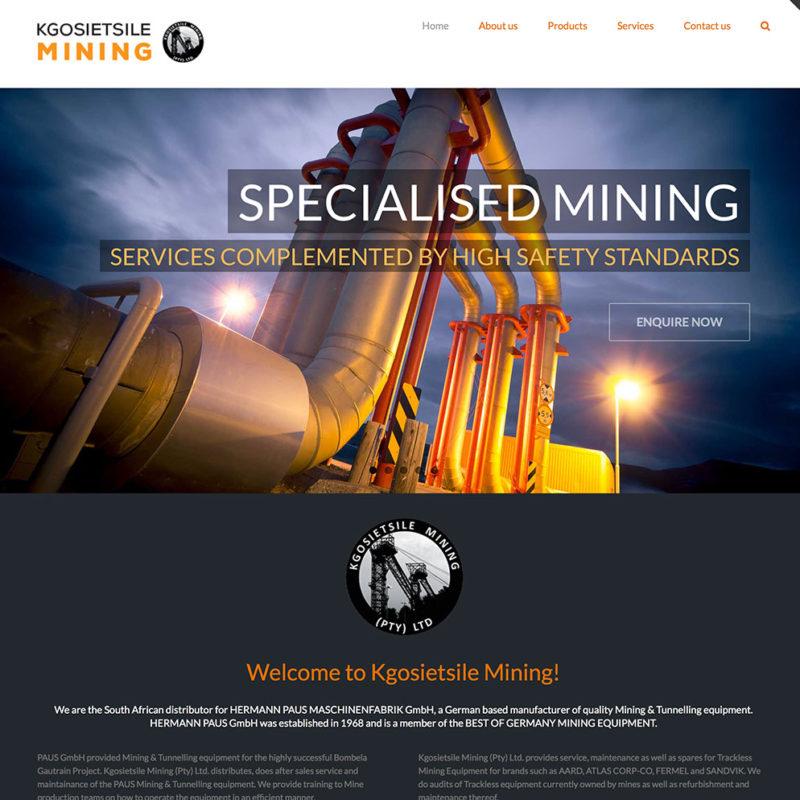 Kgosietsile Mining Website